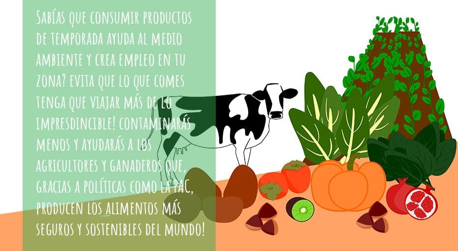 Comer productos de temporada ayuda al medio ambiente y agricultores de la zona